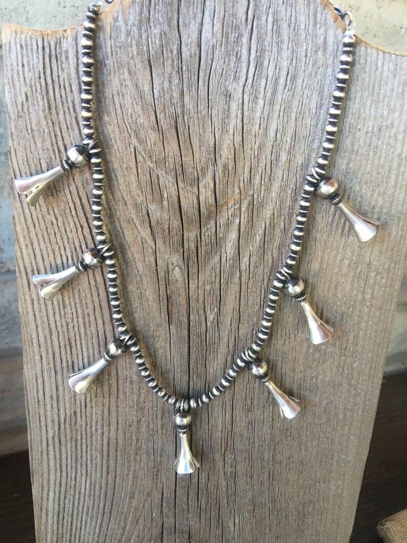 Navajo Sterling Silver Blossom Necklace