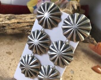 Arlene Soce Navajo Sterling Silver Concho Dangles