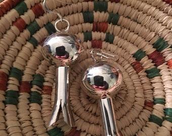 Navajo Sterling Silver Blossom Dangles