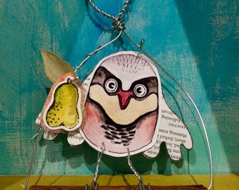 Partridge and pear decoration