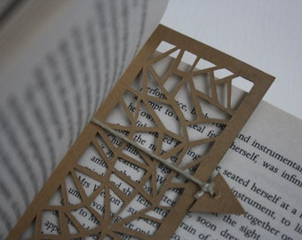 Hand cut paper cut whimsical bookmark with place holder