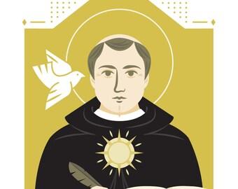 "Thomas Aquinas Art Print, 5""x7"" and 8""x10"""