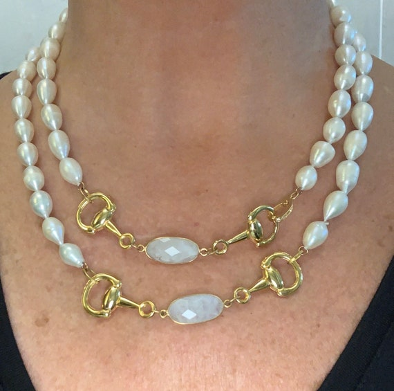 Long Pearl Double Wrap Necklace