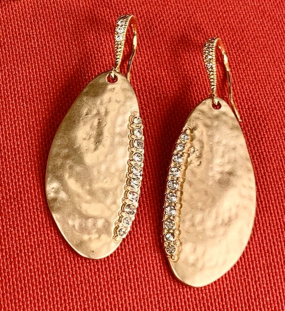 Gold Pendant Cubic Zircon Earrings