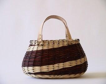 Wicker summer bag, for women