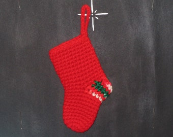 Small Christmas stockings, Fir decoration, Home decoration, Small gift packaging - 1 product