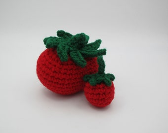 Tomato, Cherry Tomato, Greenhouse, Yellow, Red, Orange, Crochet Food, Toy, Peluche, Like Dad, Like Mom, Small Kitchen, Grocery