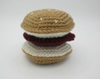 Burger, Veggie-burger, Crochet Food, Toy, Peluche, Like Dad, Like Mom, Little Kitchen, Grocery