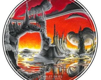 Scarlet Skies Sticker