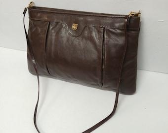 2478375183 Vintage Leather Karnig Mann Handbag- Made in Canada 1980s
