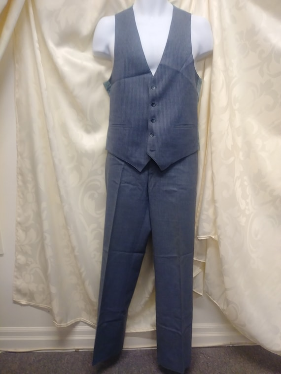 Vintage 1970's Men's Dress Pants with Vest 2 Piece