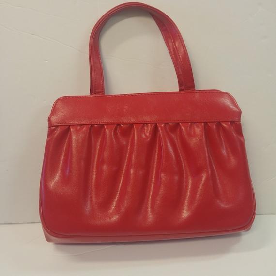 Vintage 50's Red Handbag by Designer Julius Resnic