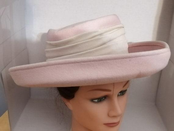 Women's Hat, Vintage Hat, Pink Hat, Wide Brim Hat,