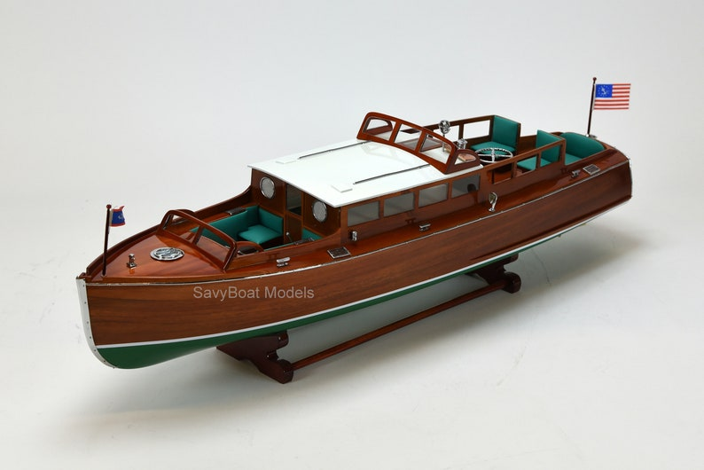Chris Craft Commuter Handmade Wooden Boat Model 34