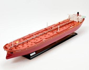 """Knock Nevis ULCC Supertanker 46"""" Handmade Wooden Ship Model"""