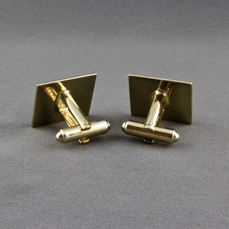 Vintage Old English Font Initial P Cufflinks By Hickok