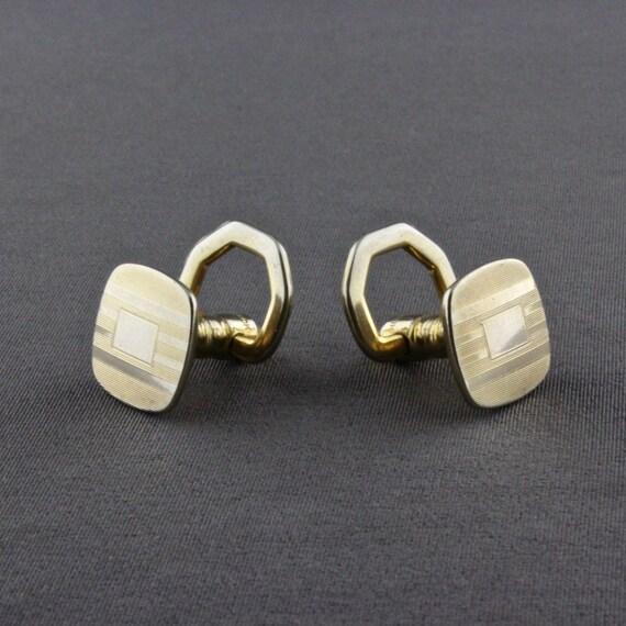 Classic Gold Single Line Cufflinks