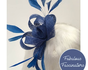 Royal blue fascinator  92895c84e87