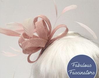 01addd555 Pink fascinator | Etsy