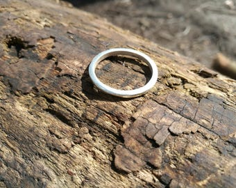 Handmade chunky silver band ring, square wire wedding ring, Mens ring, unisex gift, promise ring