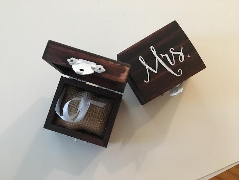 Wood Ring Box Wedding Ring Box Wedding Ring Storage Rustic Ring Box