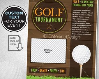 4cc4f52792d Golf Tournament Flyer Poster Invitation Custom Digital Download