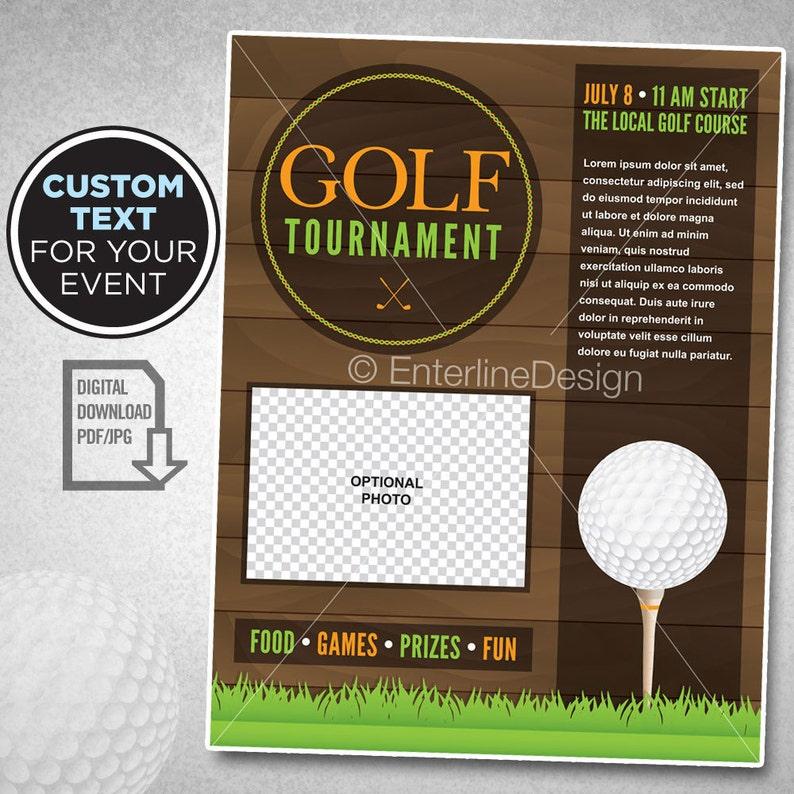 Golf Tournament Flyer Poster Invitation Custom Digital Download