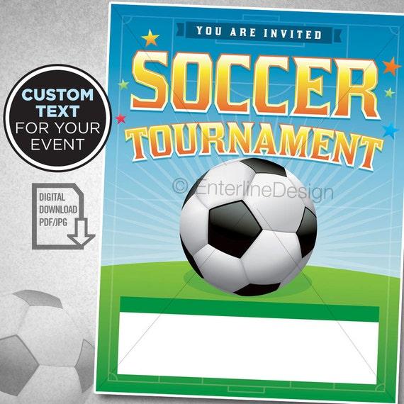 Fussball Turnier Soccer Theme Fussball Geburtstagseinladung Fussball Party Fussball Flyer Einladung Benutzerdefinierte Digitale Download