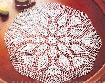 Lace Crochet Doily Pattern #116 - Round Doily Table Center - Home Decor - PDF Instant Digital Download - English Spanish Russian Description