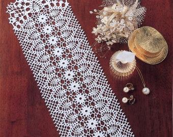 HANDMADE Lace Crochet Runner #68 - Oval Runner Table Center - Home Decoration