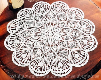 Lace Crochet Doily Pattern #110 - Round Doily Table Center - Home Decor - PDF Instant Digital Download - English Spanish Russian Description