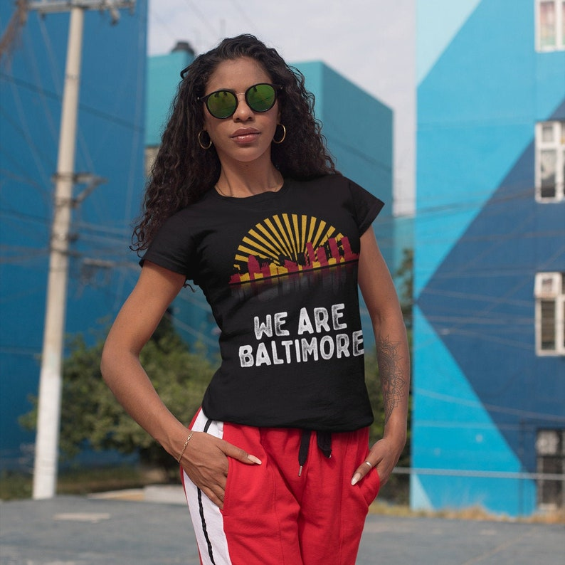 We Are Baltimore Adult Womens Slim-Fit Tri-Blend T-Shirt image 0