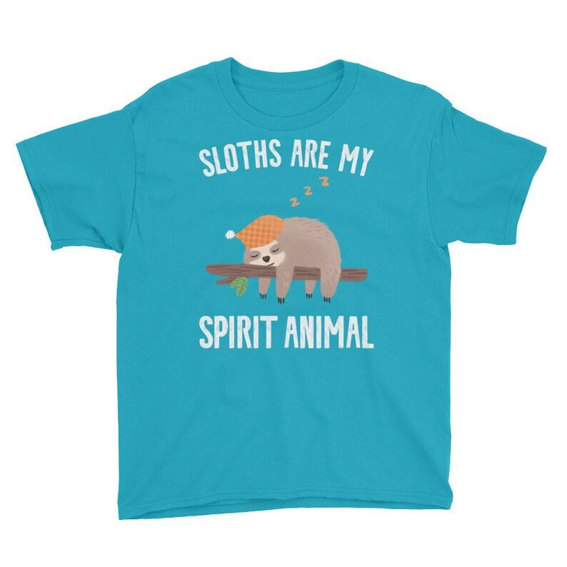Sloths Are My Spirit Animal Youth Unisex T-Shirt image 0