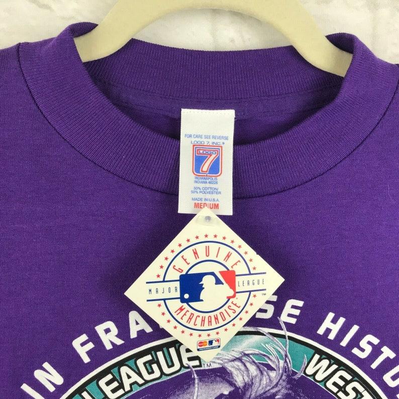 Arizona Diamondbacks Vintage 90s Baseball Purple Graphic T Shirt Mens Medium 1999 Division Champions Deadstock New With Tag