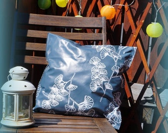 Outdoor pillow, wax cloth pillow, pillow made of wax cloth for outdoors, finished filled
