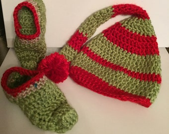 Elf booties with Hat