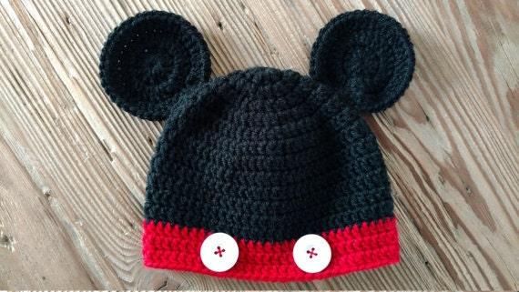 Crochet Baby Mickey Mouse Disney Hat Pattern Diy From Danirosedesign