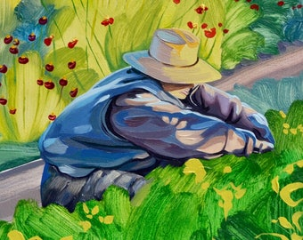 Painting Women Who Farm: Small Farms, Sustainable and Organic Agriculture, Biodynamic, Community, Vegetables, Flowers, Gardening, Art