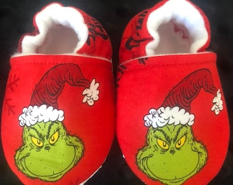 d5ad38e5537 Grinch Grinchmas Crib Shoes   Grinchmas Slippers