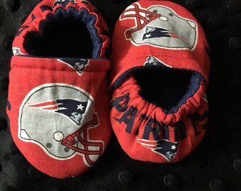 New England Patriots Crib Shoes / Patriots Slippers