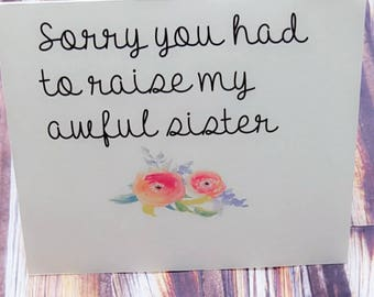 Mom Card Funny For Birthday And Daughter Mothers Day Greeting Cards Thank You