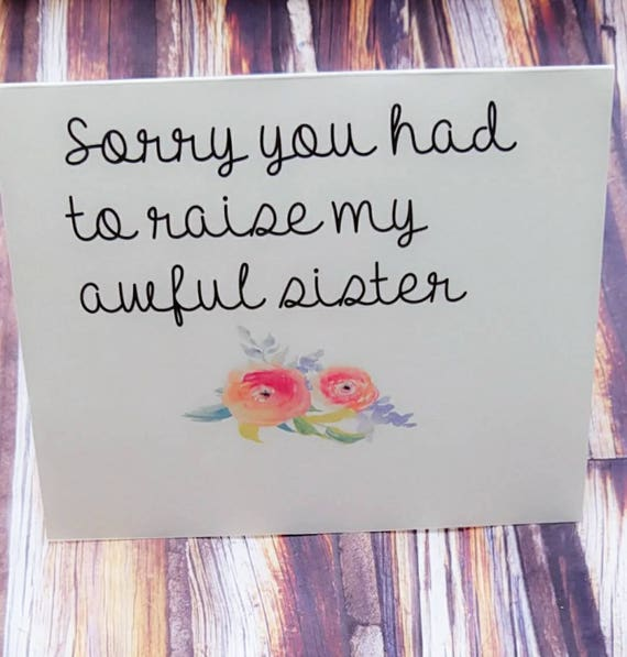 Mom Card Funny For Birthday And Daughter