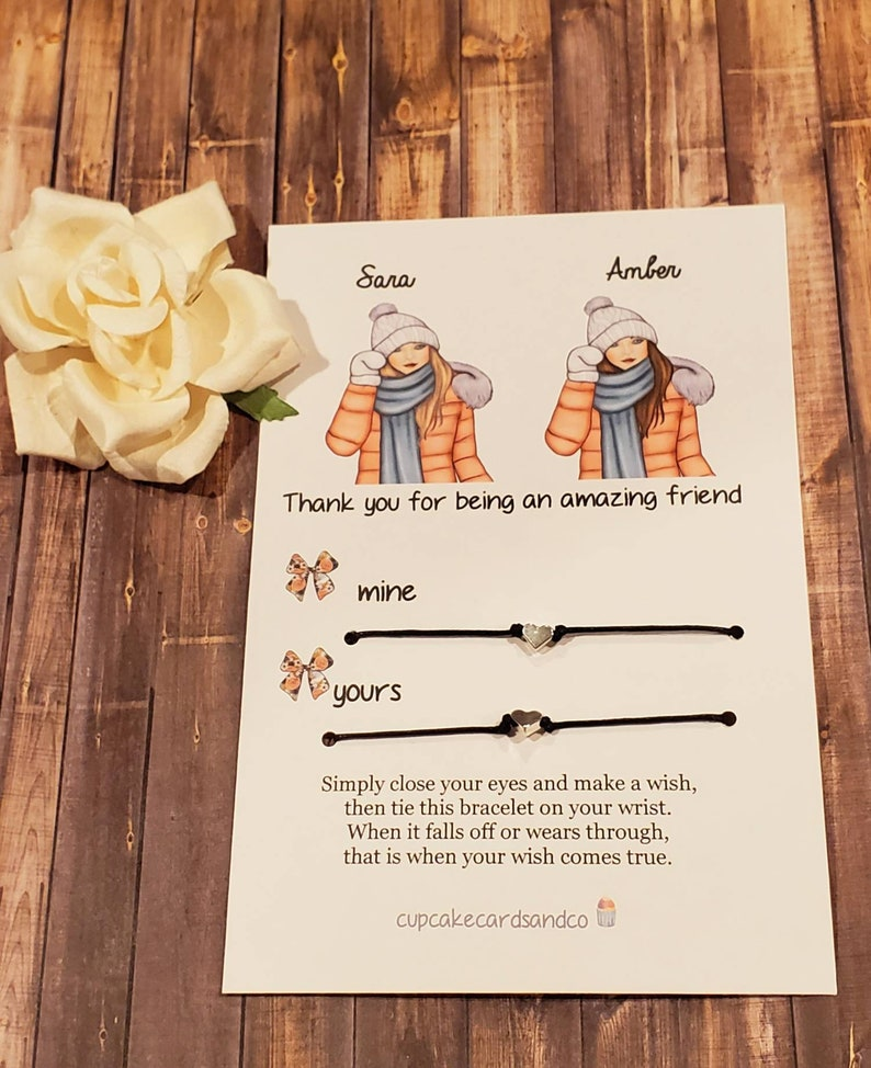 Best friend gift for best friend gifts friendship coworker gift unique gift  bestie sister gift Christmas gift card friend pinky promise