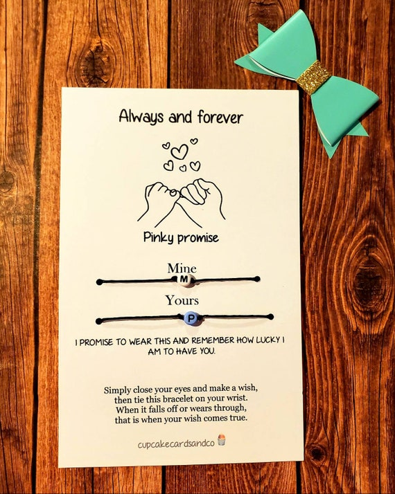 Boyfriend Girlfriend Matching Bracelets Custom Name Gift Card Boyfriend Gift Anniversary Husband Wife Fiance Bracelets