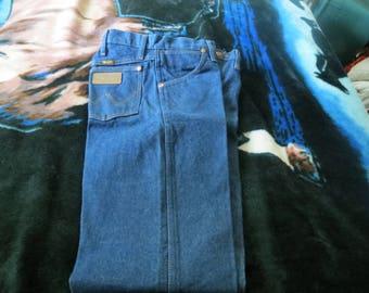 wrangler 36x30 denim blue jeans