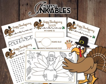 2018 Printable Thanksgiving Activity Sheets For Kids Turkey Coloring Page Pages