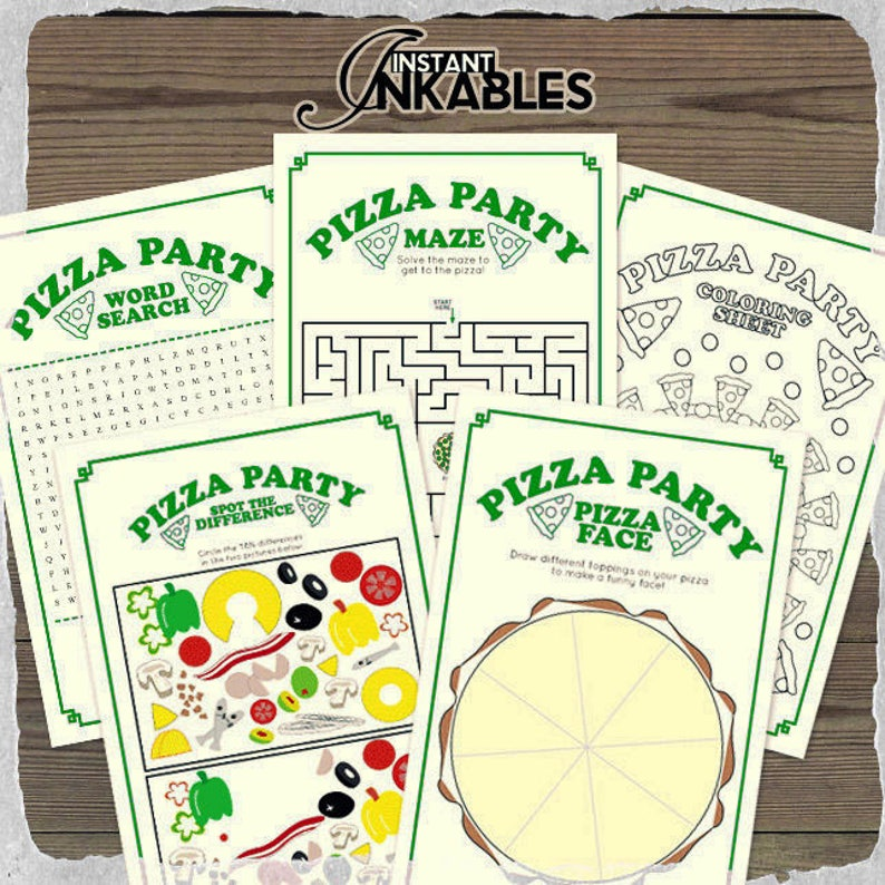 Ninja Turtles Party Games Green Party Games Green Theme Etsy