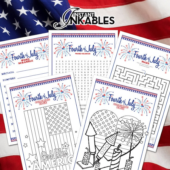 12 Patriotic USA Flag Maze Puzzle Game Kid July 4th Party Goody Bag Favor Supply