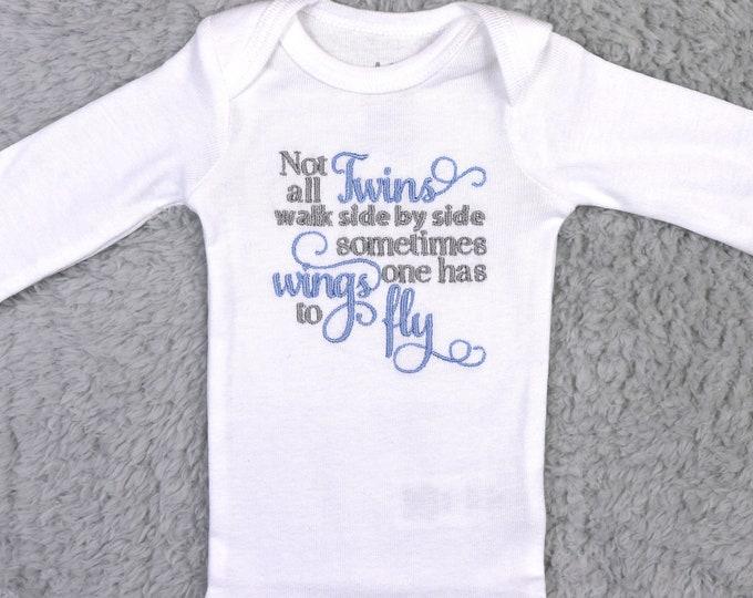 Baby bodysuit - Not all twins walk side by side