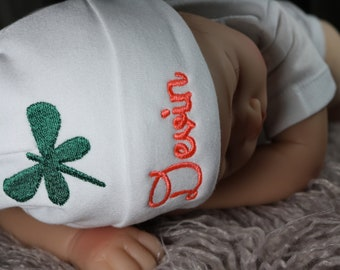 fc4d205896e Personalized baby hat with dragonfly - micro preemie   preemie   newborn    0-3